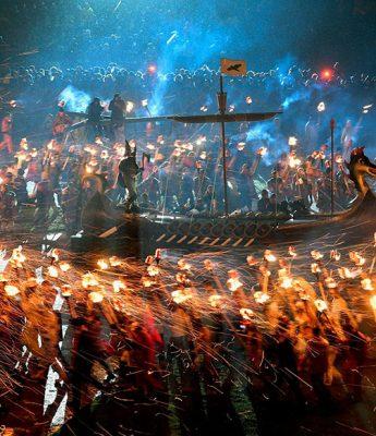festival viking na escócia
