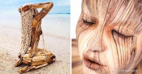 20 esculturas de madeira tão realistas que vão deixar você com calafrios