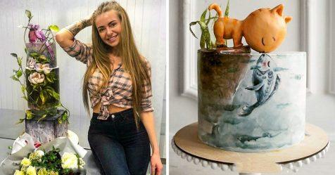 Uma chef de confeitaria da Rússia cria bolos fantásticos